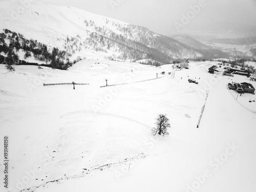 Fotografie, Obraz  Caucasus mountains georgia ski resort Bakuriani. Mountain view