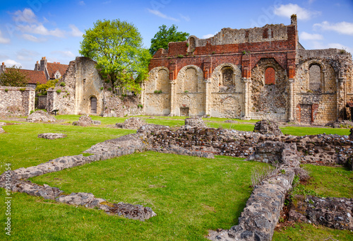 Photo St Augustines Abbey Benedictine monastery remains in Canterbury Kent Southern En