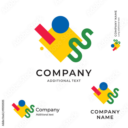 Fényképezés Art Modern Logo Abstract Identity Brand and App Icon Suprematism Design Studio S