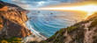 canvas print picture - Big Sur coastline panorama at sunset, California, USA