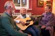Group of senior people enjoy in friendship at nursing home