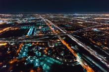 Aerial View Of Los Angeles, CA...