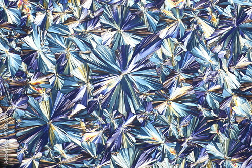 Art and chemistry, crystals of acetylsalicylic acid Wallpaper Mural