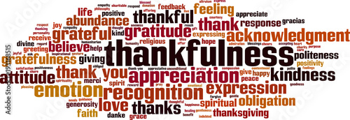 Thankfulness word cloud