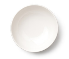 Empty White Bowl Isolated On W...