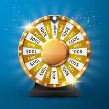 Fortune Wheel Vector Backgroun...