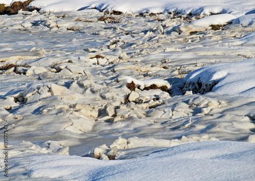 Keuken foto achterwand Noordzee eingefrorenes Wattenmeer, Nordsee