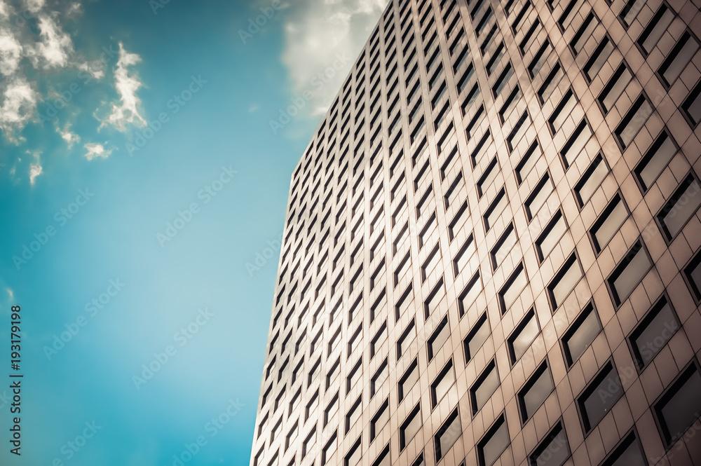 Fototapeta Building facade architecture cloudy sky