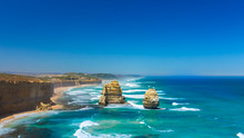 Twelve Apostles Rocks On Great...