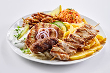 Mixed Grill Greek Plate With S...