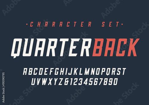 Carta da parati Vector condensed italic dynamic display font design, alphabet, c