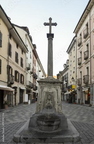 Fountain In Croce Di Citta Crossroad Between The Roman Roads Cardo