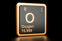 Oxygen O Chemical Element. 3D ...