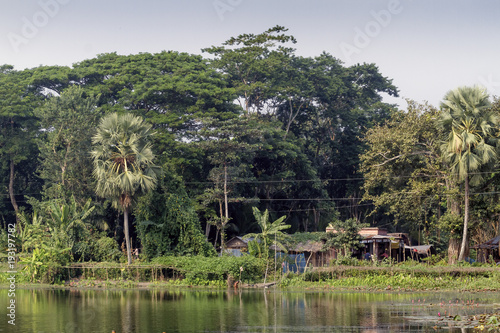 Foto op Aluminium Grijze traf. Village in Bangladesh.