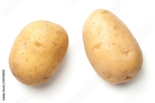 Potatoes Isolated on White Background Fototapeta