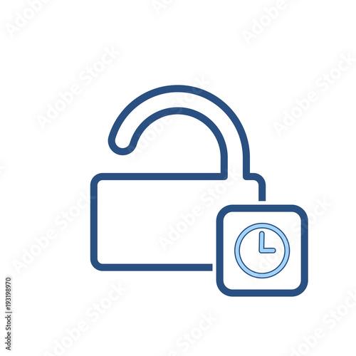 Fotografie, Obraz  Delay lock padlock password protection secure time icon