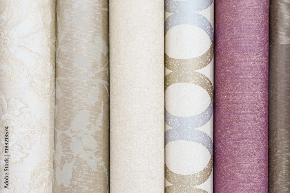 Fototapety, obrazy: Colorful rolls of wallpaper as background