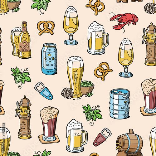 Photo Beer in beerhouse brewery vector beermug or beerbottle and dark ale or beerbarre