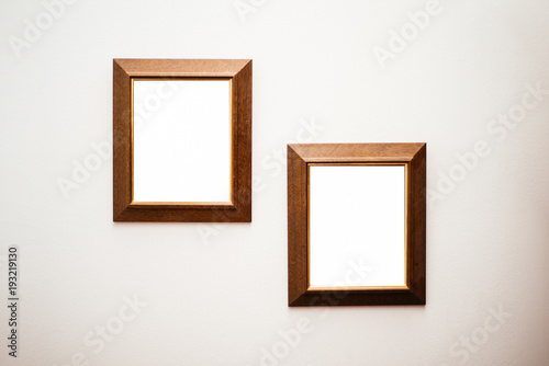 Picture Frames On A Wall Buy This Stock Photo And Explore Similar
