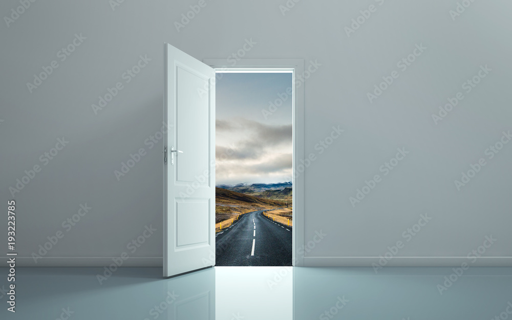 Fototapety, obrazy: Open the door and see the path forward.