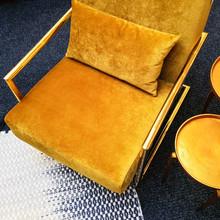 Retro Style Dark Yellow Velvet...