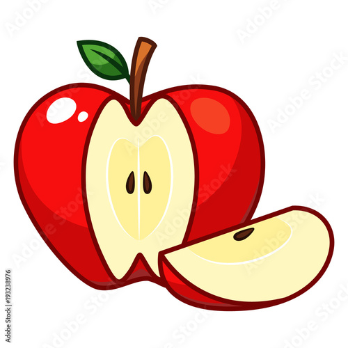 Foto op Aluminium Pixel Apple fruit vector