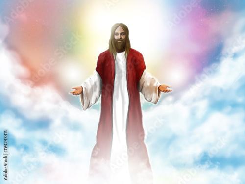Jesus Christ in the sky Fototapeta