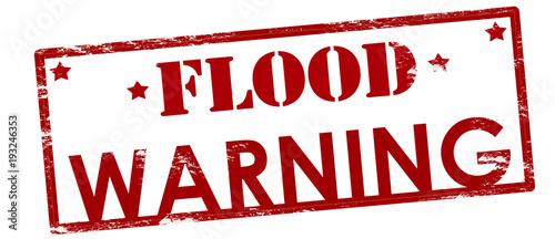 Flood warning Canvas Print