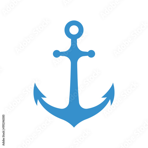 Fotomural Nautical anchor isolated on white background