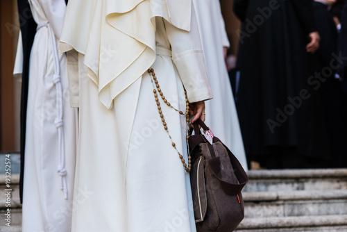 Dominican monks, detail of the monastic habit, monastic order of the Catholic Ch Fototapeta