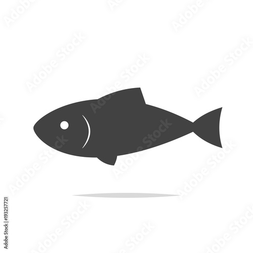 Fish icon vector isolated Wall mural