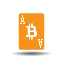 Ace Of Bitcoins Vector Illustr...