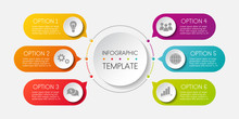 Template Of An Infographic. Gr...