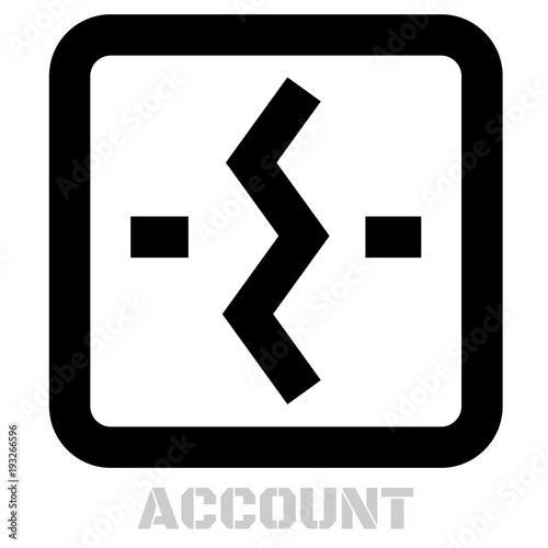 Account conceptual graphic icon Canvas Print
