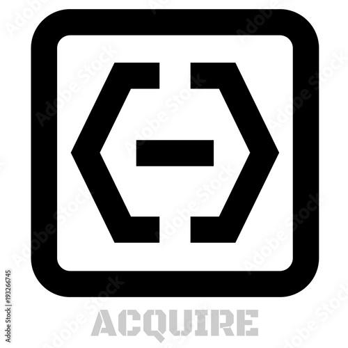 Photo Acquire conceptual graphic icon