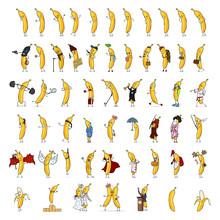 Big Set Of Banana Characters