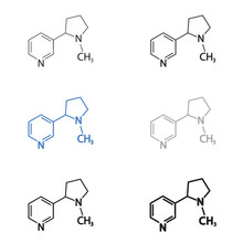 Nicotine Molecular Structural ...