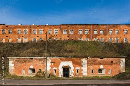 Photo Fortress Modlin (deffence barracks) in Nowy Dwor Mazowiecki, Poland