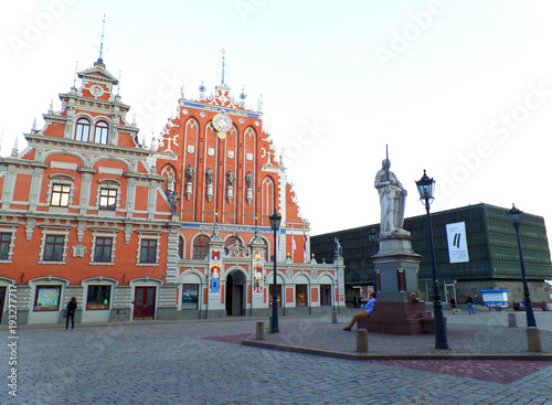 Wall Murals Bridges Beautiful Old Town Square in the Historical Center of Riga, Latvia