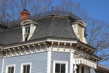 Rooftop Of Old Victorian Home
