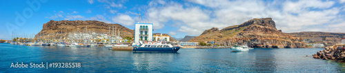 Tuinposter Canarische Eilanden Waterfront panoramic view of Puerto de Mogan. Gran Canaria, Canary Islands