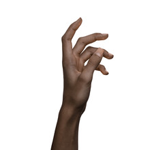 African American Black Hand Gesture Isolated On White Background