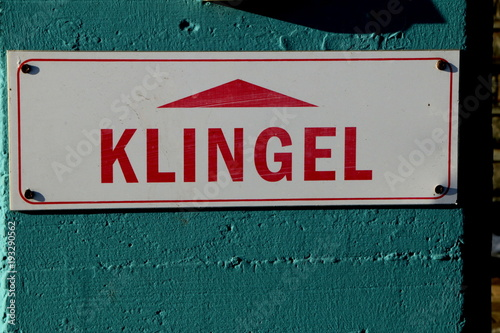 Fotografie, Obraz  Bell, Klingel