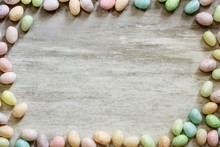 Easter Background With Speckle...