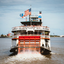 Paddle Wheel Steamer On The Mi...