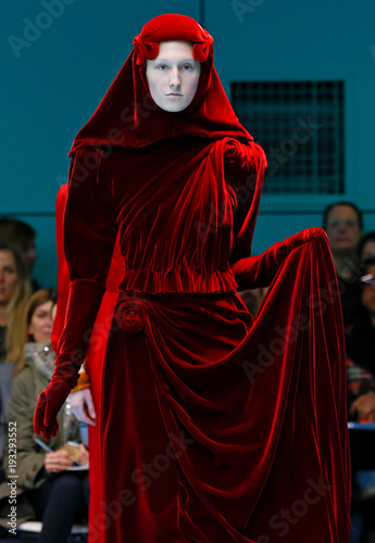 d67c347ed A model presents a creation from the Gucci Autumn/Winter 2018 women collection  during Milan