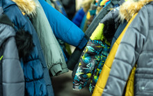 Winter Children's Clothing In The Store