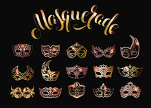 Vector Collection Of Gold Masq...