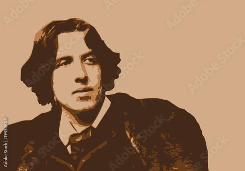Fotografía  Oscar Wilde - écrivain - portrait - personnage célèbre - littérature - personnag