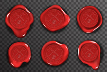Wax Seal Stamp Red Certificate...